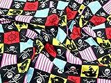 Pirat Patchwork Print Baumwolle Popeline Stoff