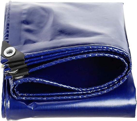 T-ShommeET Bache Résistante Imperméable à l'eau Antigel Prougeection Anti-Vieillissement Extérieur, 10 Tailles Bache Bleu épais 3,8 X 4,8 M