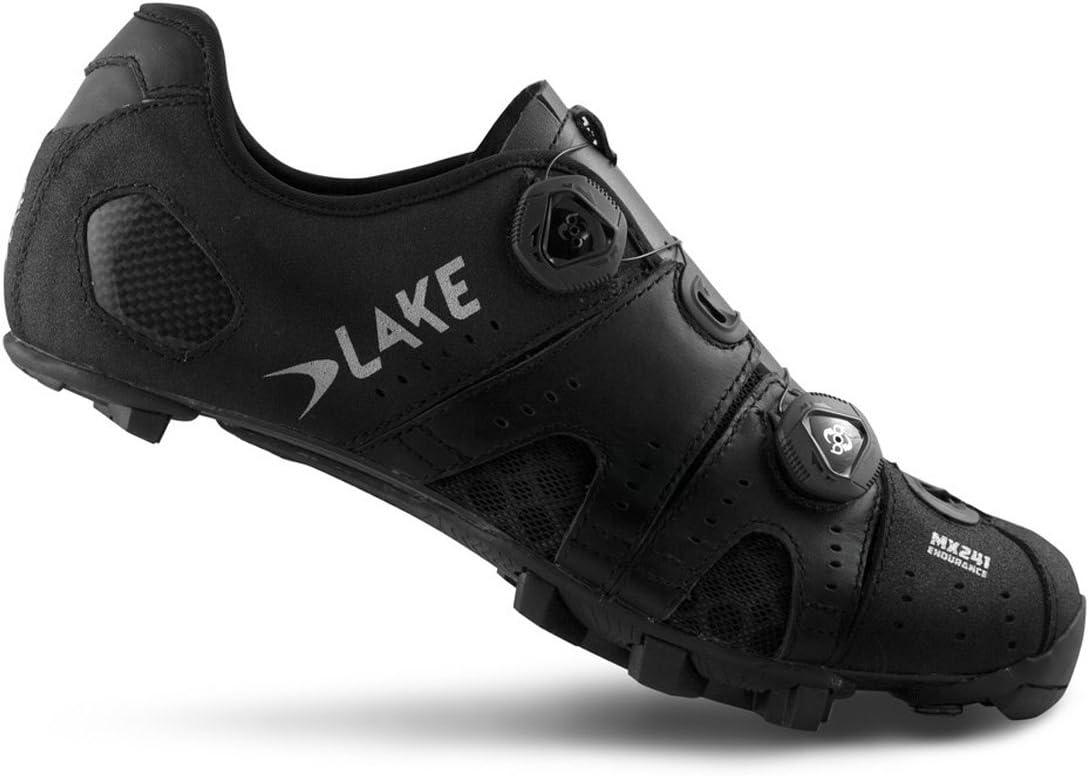2021 Lake MX241 Endurance Cycling Shoe Men's Black 50.0 - Silver Kansas City Mall