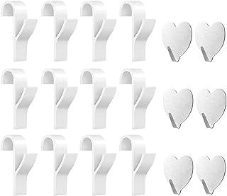 JOYUE Gancho para Radiador Toallero, Gancho para Radiador de Toalla de 12 Piezas y 6 Piezas Ganchos Adhesivos Toalla (18 Piezas)