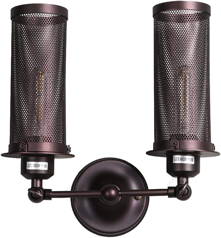 Einstellbare Wandleuchten aus Eisen, Vintage kreative LED-Gitter Beleuchtung hngende Lampe Wandleuchte American Village Gang Bar Bekleidungsgeschft Wandlampen, 2 Lichter