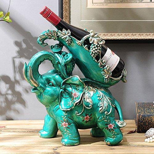 ZHDC® European Noble Elephant Wine Rack Décoration Décoratifs Accueil Décorations Cabinet Décorations Artisanat Multifonctions (Couleur : #1)