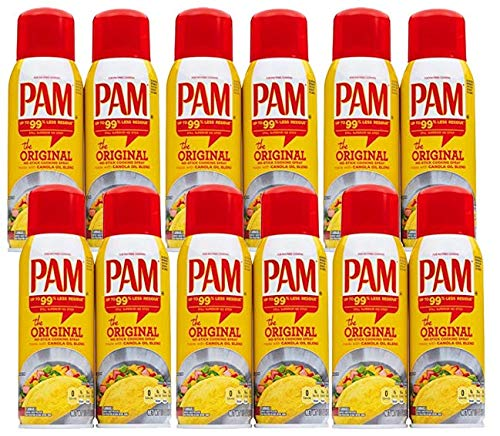 PAM Original Cooking Spray 10 oz (2 count) (Pack of 6)