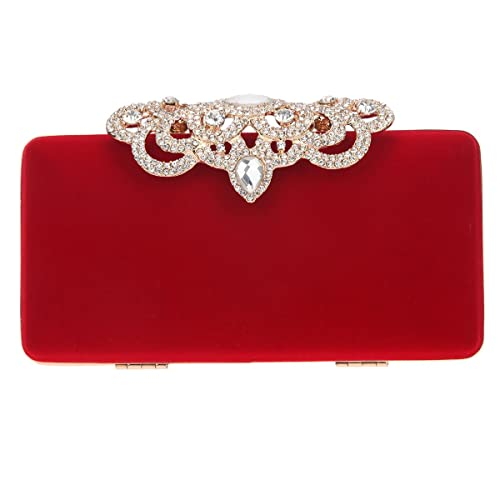 f6414fe5388 Fawziya Crown Velvet Clutch Purse Women Clutch Evening Bags