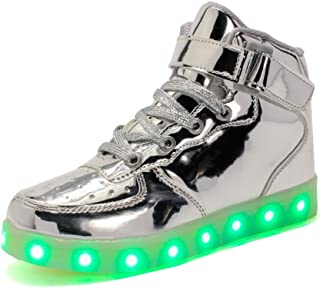 Rojeam Unisexo Adulto Altos LED Shoes Zapatos Deportivos USB Charging Aire Libre Athletics Casual Parejas Zapatos Sneaker