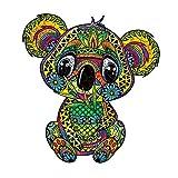N\C Rompecabezas De Madera De Koala para Adultos En Forma De Rompecabezas De Animales Irregulares Rompecabezas De Madera Exquisito Empaque 15 × 16,3 Pulgadas (38X41,4 CM) / 327 Piezas