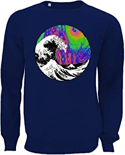 The Great Psychedelic Wave Aesthetic Graphic Unisex Pullover Sweater Sweatshirt