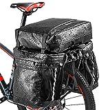 Bolsa Bicicleta Achort 3 in 1 Multifuncional Alforja Maletero Impermeable 50L, 3 Compartimentos para Portaequipajes Asiento Trasero de Bicicleta de Carretera, Juego de Bolsas para Bcicleta Pannier