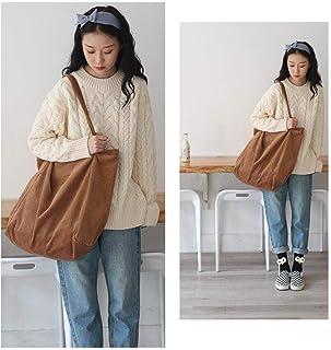 Women Fashion Corduroy Shoulder Bag Large Capacity Female Big Tote Handbag Folding Reusable Shopping Bags Thin Strap Cloth...