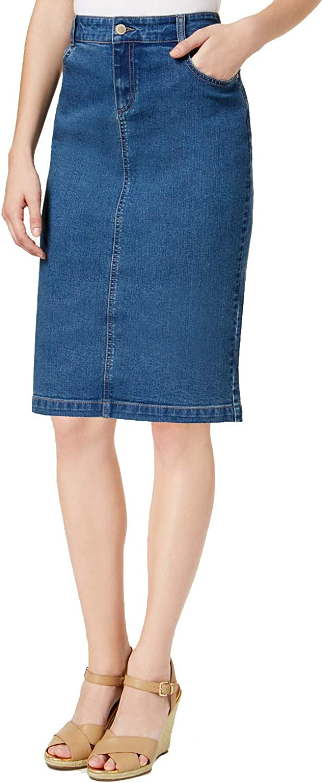 Charter Club Petite TummyControl Denim Skirt