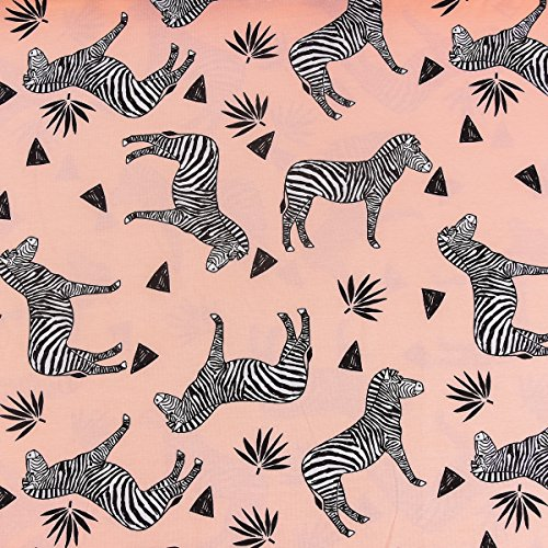 Bio-jerseystof bio-jersey Bloome Copenhagen Zebra-blouse roze zebra roze zwart 1,60 m breedte