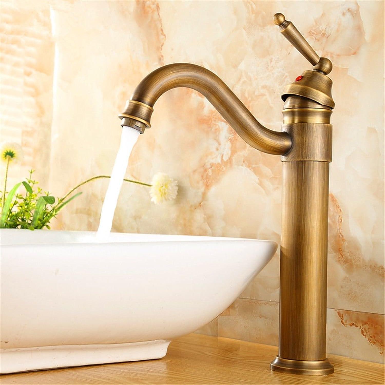 AQMMi Wasserhahn Waschtisch Waschbecken Armatur Messing Antik 360° Schwenken Badarmatur Waschbeckenarmatur Waschbecken