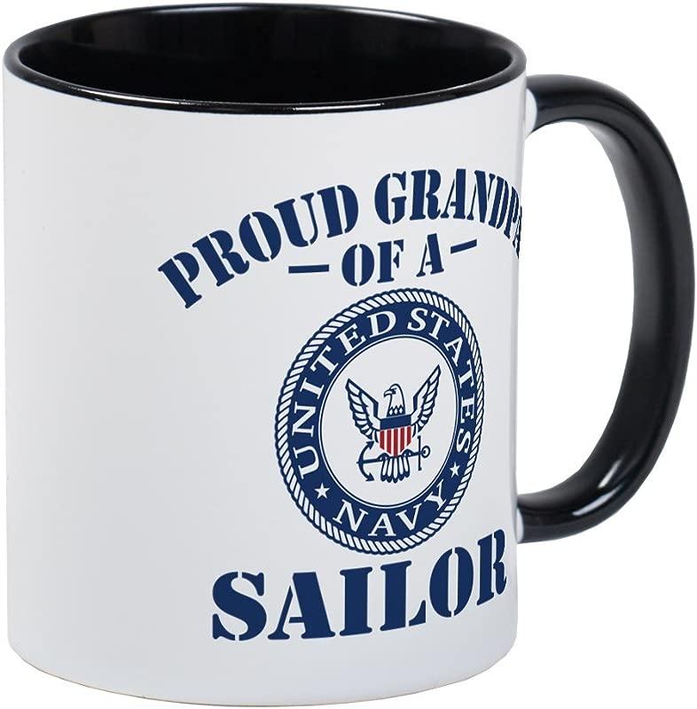 CafePress Proud Grandpa Of A US Navy Sailor Mug Unique Coffee Mug Coffee Cup