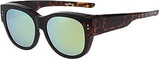 CAXMAN Oversized Lens Cover Sunglasses Mirrored Polarized Lens for Men Women