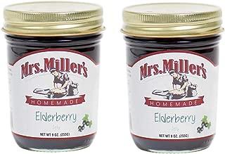 Mrs. Miller's Homemade Jelly, Elderberry, 9 OZ (Pack of 2)