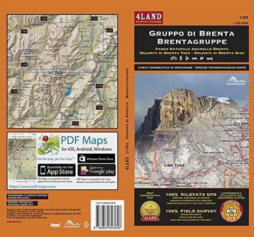 GRUPPO DI BRENTA - BRENTAGRUPPE: Parco Naturale Adamello Brenta – Dolomiti di Brenta Trek – Dolomiti di Brenta Bike