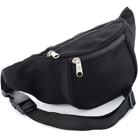 Rifle Black Leather Fanny Pack Adjustable Travel Bum Bag Festival Gift 298