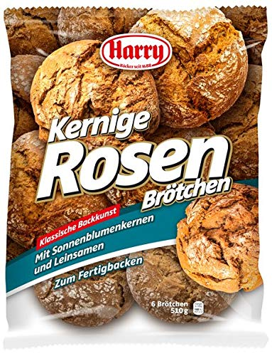 Harry Brot 10 Beutel Kernige Rosen Brötchen 6 Stück a 85g / 510g
