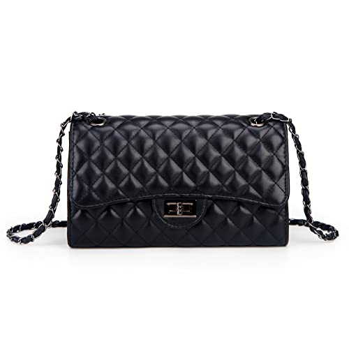 b0c21f60b2c Solarfun Classic Crossbody Shoulder Bag for Women Quilted Purse With Metal Chain  Strap