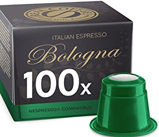 Italian Espresso Bologna, 100 Capsules, Organic, by REAL COFFEE, Denmark