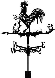 Tenacitee Stainless Steel Weather Vane Retro Rooster Weathervane, Durable Farm Scene Garden Chicken Stake Weathercock, Dec...