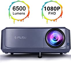 $156 » 1080P Projector Video Projector for Home & Outdoor Movie Projector Compatible with Fire TV Stick, Smartphone, HDMI,VGA,AV and USB,Laptop, Smartphone