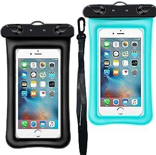 IPX8 - Funda impermeable flotante universal para teléfono celular iPhone Xs Max/XR/X/8/8P/7/7P/6S Plus, para Galaxy S9/8/+/Note 8/6/5/4, tamaño de pantalla de hasta 6,5