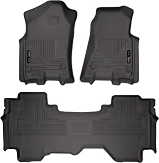 Husky Liners 94011 Black Weatherbeater Front & 2nd Seat Floor Liners Fits 2019 Dodge Ram 1500 Quad Cab