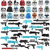 HYMAN Custom Militar Armas Set, 52 Piezas Sci-fi Casco y Armas para Minifiguras Soldados Militares Swat, Compatible con Minifiguras Lego