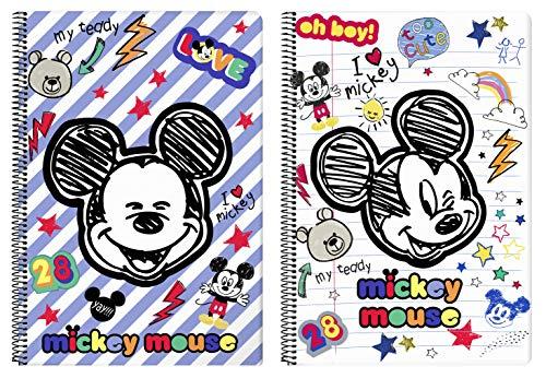 Mickey Mouse 'Maker' Oficial Cuaderno Oficial 80 Hojas Tapas Duras 215x310mm