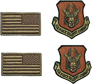 US Air Force Reserve Command OCP Spice Brown Patch and Flag Bundle