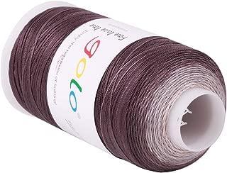 Crochet Thread Yarns for Begingers Size6-100% Contton Yarn for Knitting Crochet DIY Hardanger Cross Sitch Crochet Thread Balls Rainbow Turquoise 12 Colors Avilable (Size 6, Black and White)
