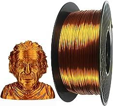Silk Copper PLA 3D Printer Filament 1.75 mm 1KG 2.2LBS Spool 3D Printing Material CC3D Shine Silky Shiny Metallic Metal Red Purple Copper PLA Filament