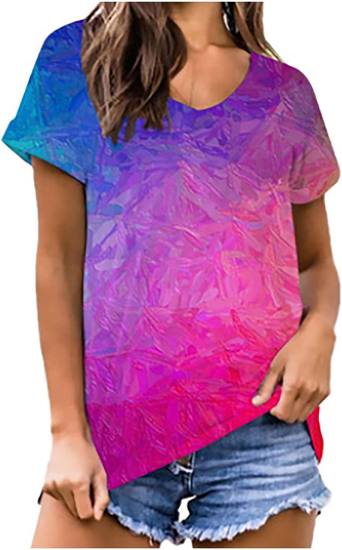 TARIENDY Tie Dye Tops for Women SALENEW very popular! Slee Shirt Summer Casual Short T Max 71% OFF