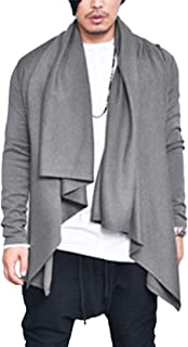 COOFANDY Men's Shawl Collar Cardigan Lightweight Casual Cotton Blend Open Front Drape Cape