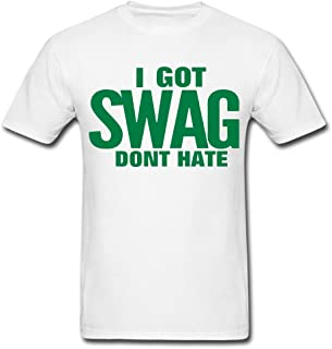 Top Sky 1 3D Printing I Got Swag Dont Hate White Men's T-Shirt