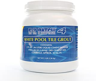E-z Patch 4- White Pool Tile Grout Repair- 3 Lb