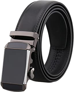 Men Belts Leather Big and Tall for Pants Luxury Mens Belt Rachet Buckle