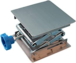 """Stainless Steel Lab Jack Stand Table Lift Laboratory Jiffy Jack 4"""" x 4"""""""