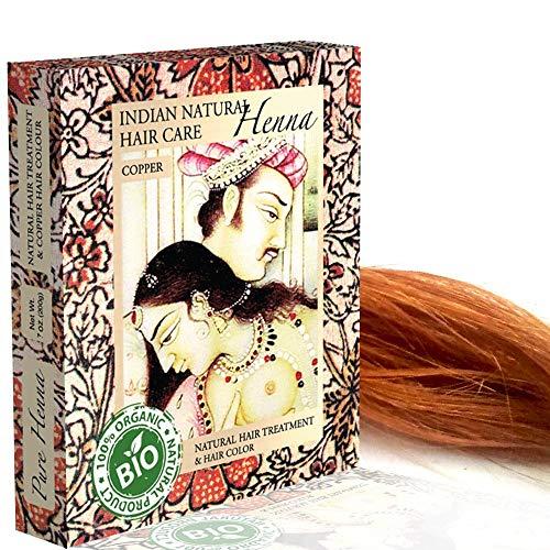 Henna Powder - Red Hair Dye - Fresh and Pure Organic - 7 ounce - Indian Natural Hair Care