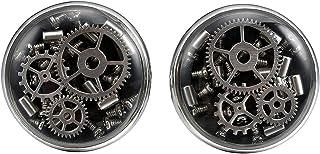 سه عدد کلید KEY STAMPUNK دکمه های مردانه دستبند بازیافت بازیافت نقره ای گل رز سیاه طلا سیاه Cufflink برای مردان