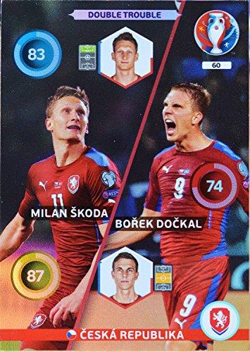 carte PANINI EURO 2016 #60 Skoda - Dockal