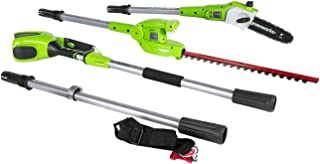 Greenworks 8.5' 40V Cordless Pole Saw with Hedge Trimmer Attachment, Battery Not Included PSPH40B00