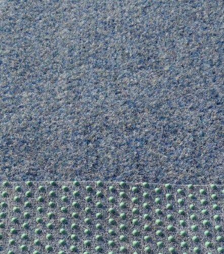 Kunstrasen, Rasenteppich,133/200 /400 cm Breite, blau-grau, (200 x 200 cm)