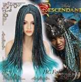 Descendientes 2 Uma Cosplay peluca trenzada resistente al calor pelucas de cabello sintético + gorro de peluca