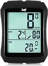 007KK Wireless Bike Computer Waterproof Bike Speedometer Bicycle Odometer with Cadence Sensor LCD Backlight Automatic Wake-up & Multi-Functions