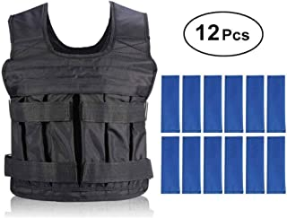 Yosoo Weight Vests Adjustable Weighted Vest Running Gym Training Running Jackets Workout Exercise Loss Weight Jackets Sand Loading Cloth, Weights not Included