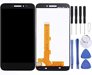 Repair Parts LCD Screen and Digitizer Full Assembly for Alcatel Shine Lite / 5080 (Black) Spare Parts (Color : Black)