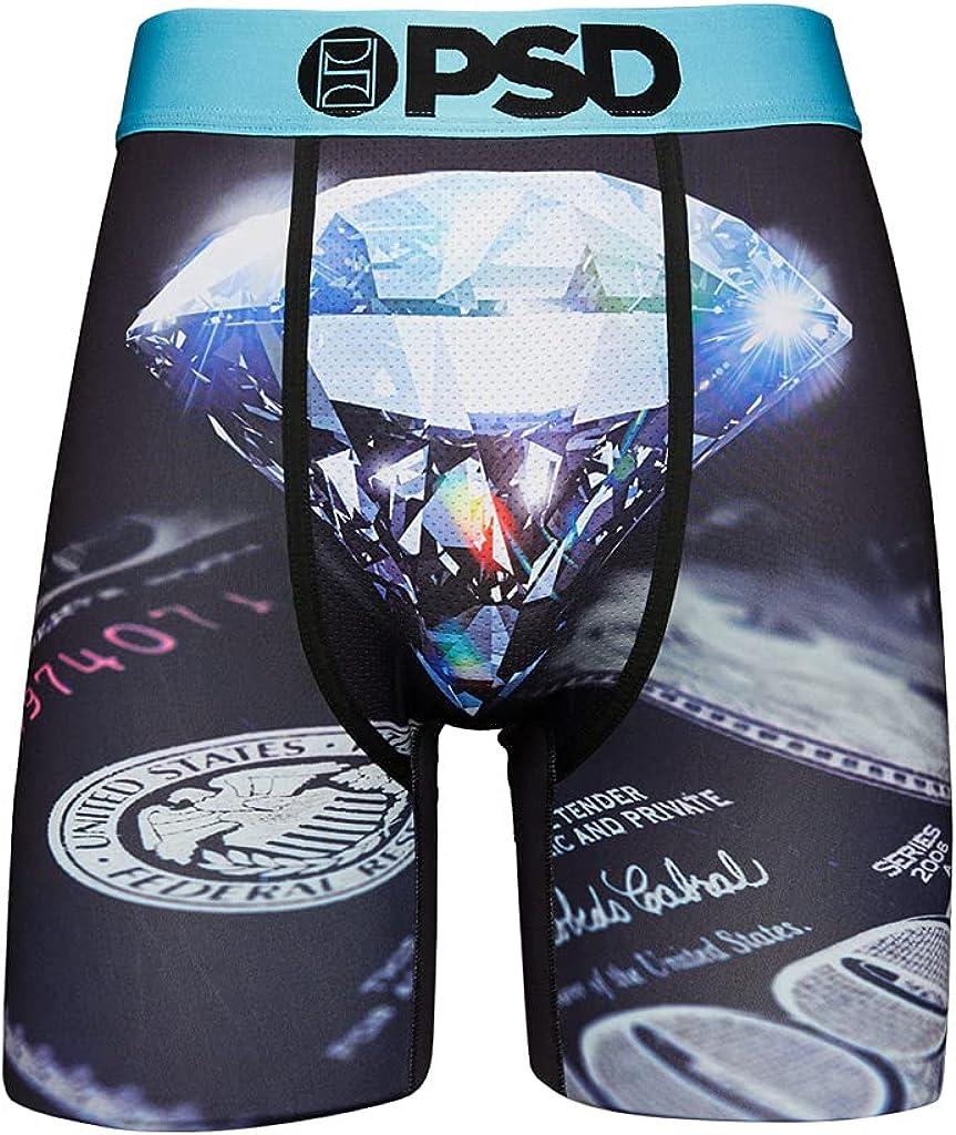 PSD Underwear Men's Money Moves Printed Boxer Brief