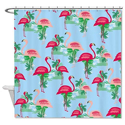 rioengnakg Pink Flamingos Polyester Duschvorhang Liner Mehltau wasserdicht bis, Polyester, #1, 66